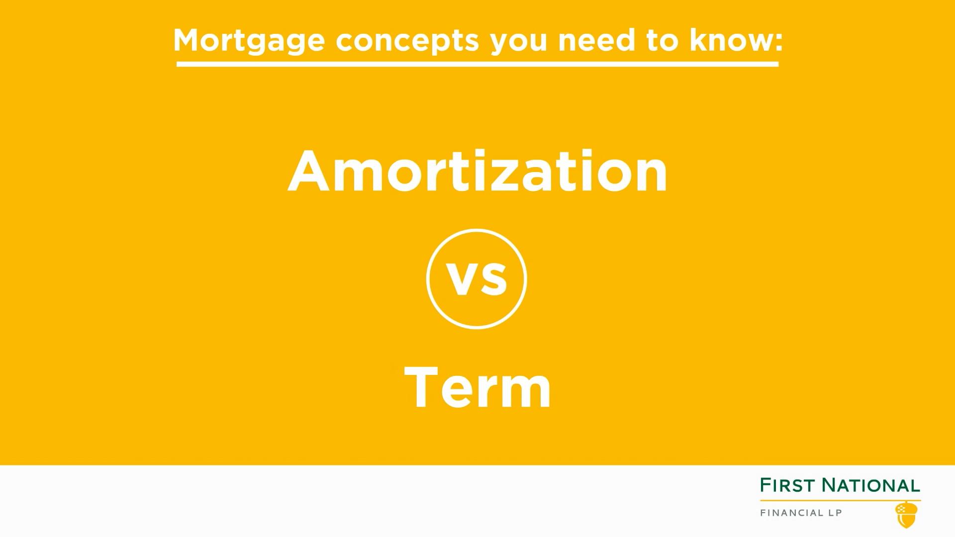 Amortization vs Term